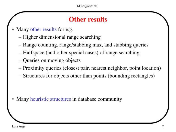 I/O-algorithms