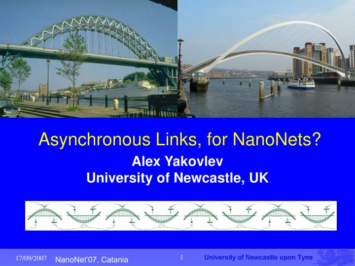 asynchronous links for nanonets