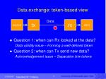data exchange token based view1