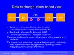 data exchange token based view2