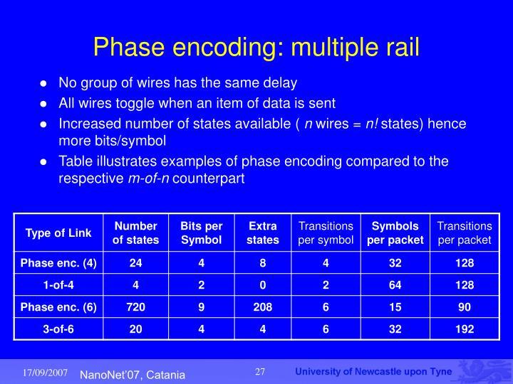 Phase encoding: multiple rail
