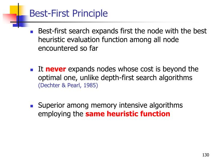 Best-First Principle