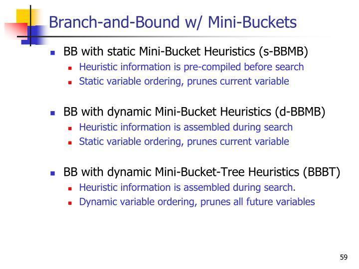 Branch-and-Bound w/ Mini-Buckets