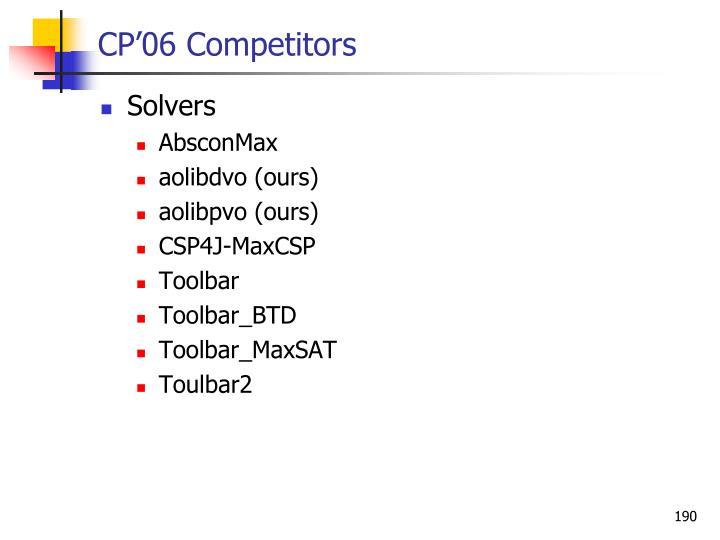 CP'06 Competitors