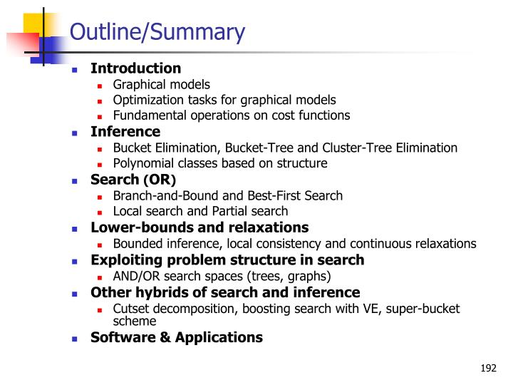 Outline/Summary