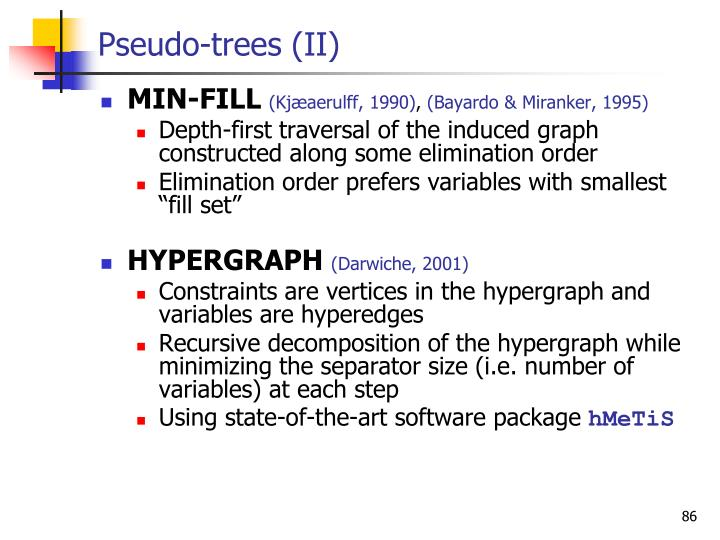 Pseudo-trees (II)