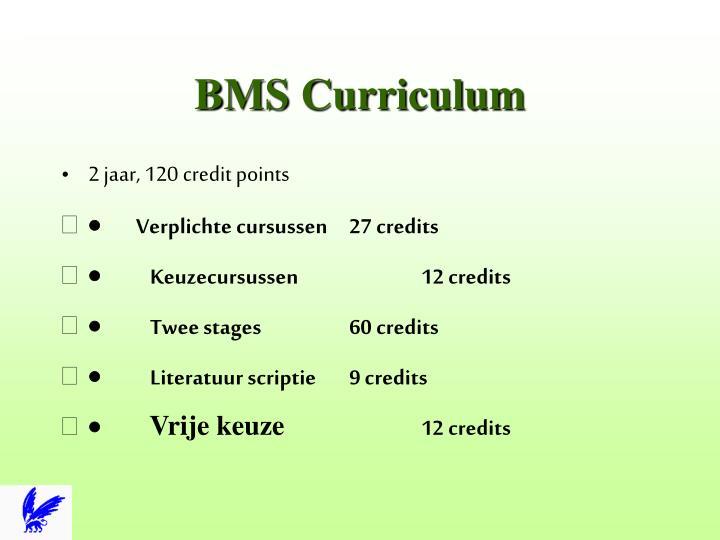 BMS Curriculum