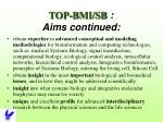 top bmi sb aims continued