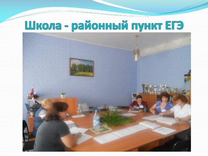 Школа - районный пункт ЕГЭ