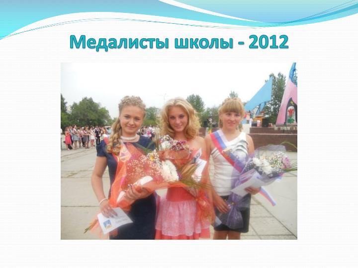 Медалисты школы - 2012