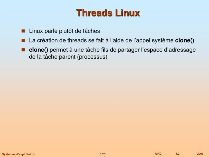 Threads Linux