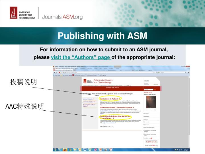Publishing with ASM