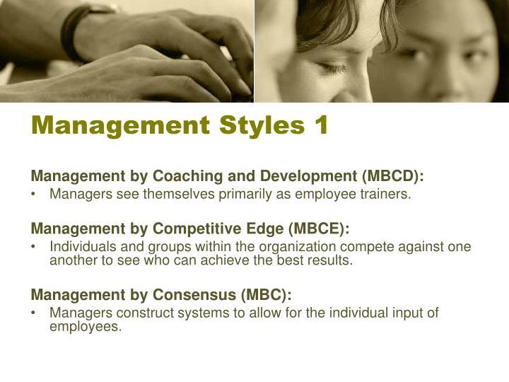 Management Styles 1