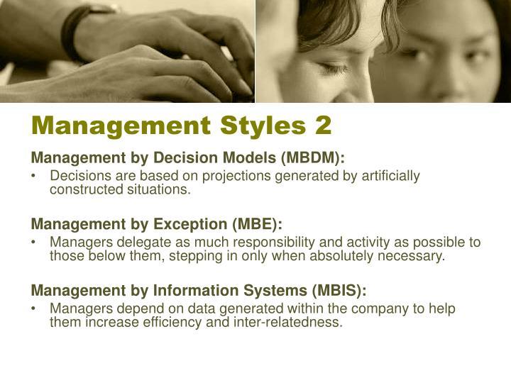 Management Styles 2