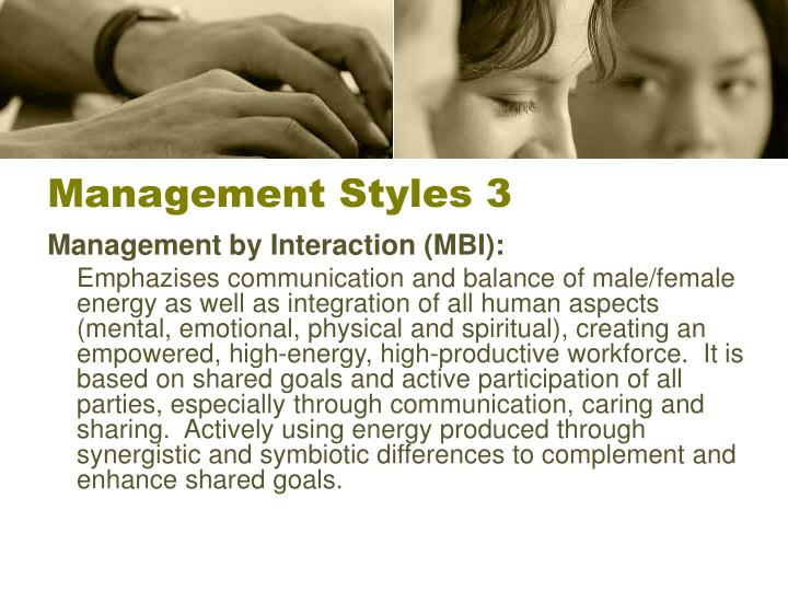 Management Styles 3