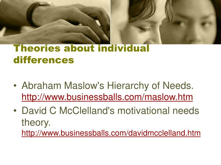 Theories about individual differences