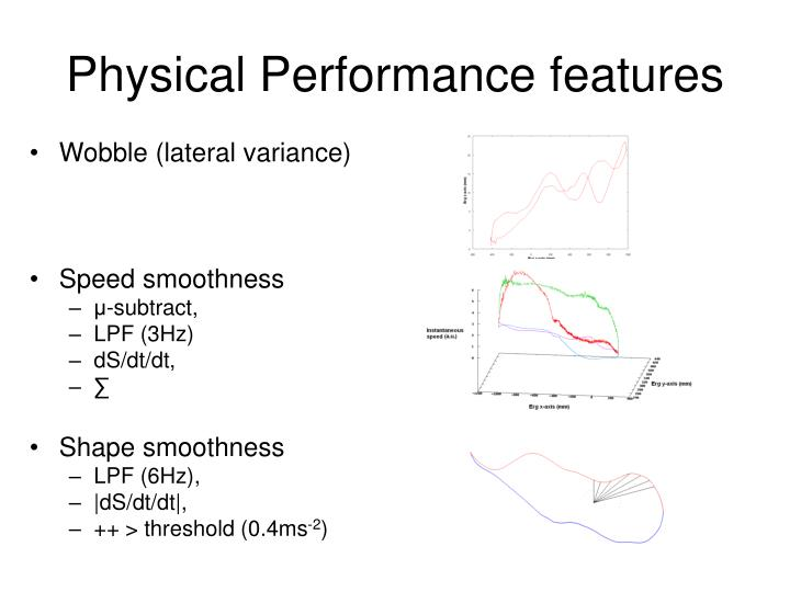 Physical Performance features