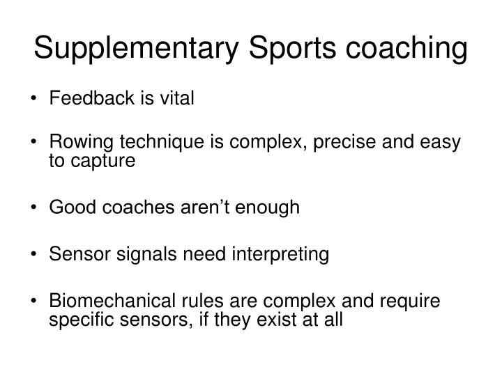 Supplementary Sports coaching