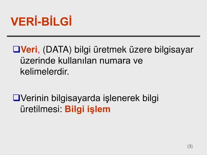 VERİ-BİLGİ
