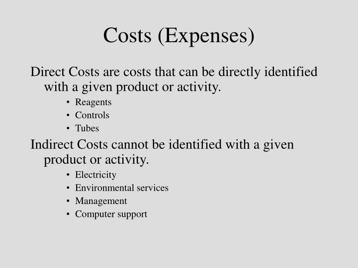 Costs (Expenses)
