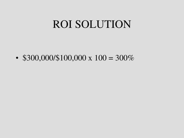 ROI SOLUTION