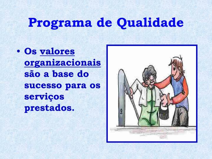 Programa de Qualidade