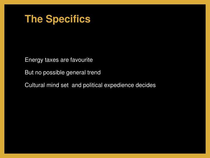 The Specifics