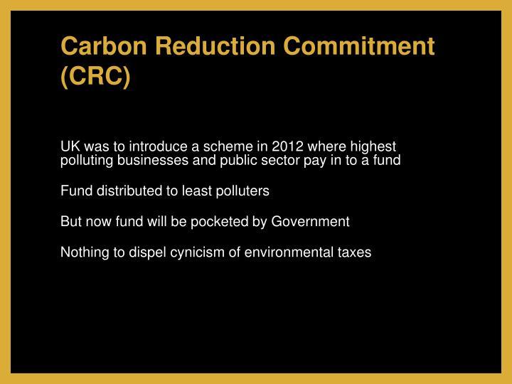 Carbon Reduction Commitment (CRC)