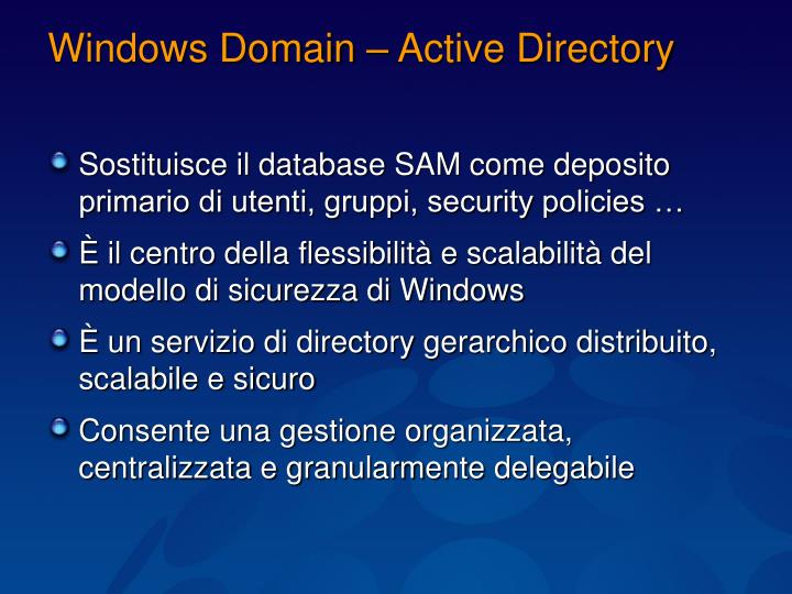 Windows Domain – Active Directory