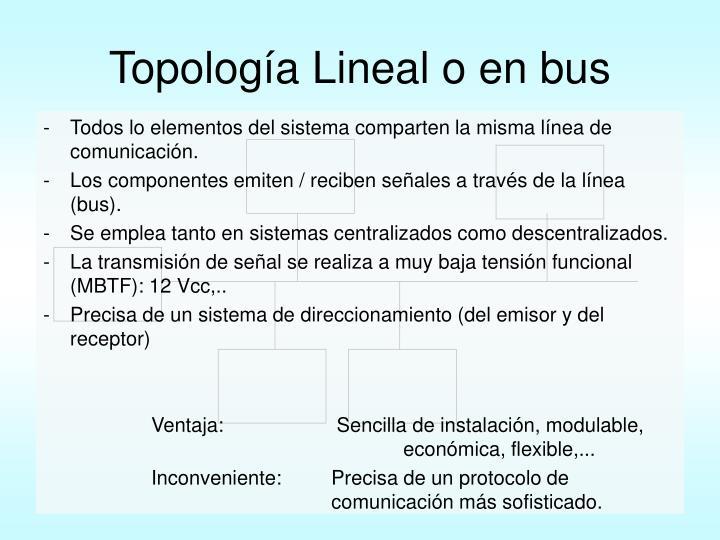 Topología Lineal o en bus