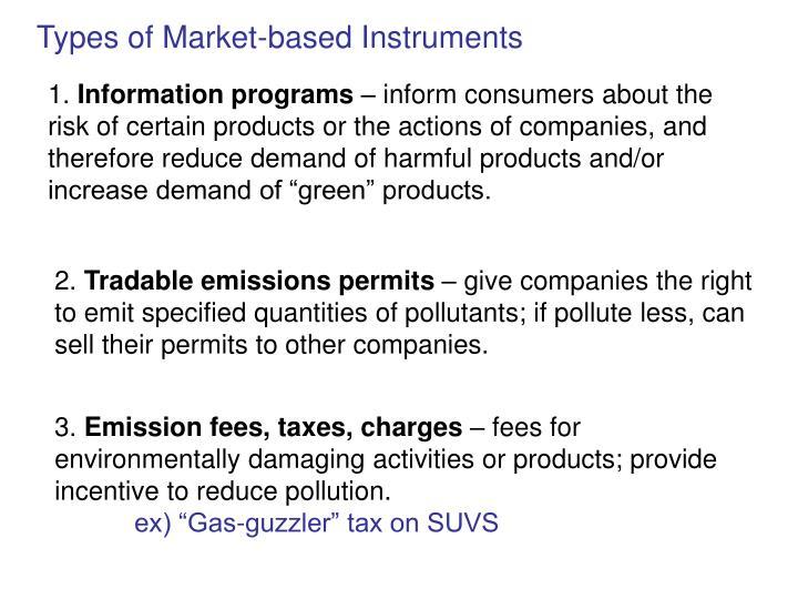 Types of Market-based Instruments