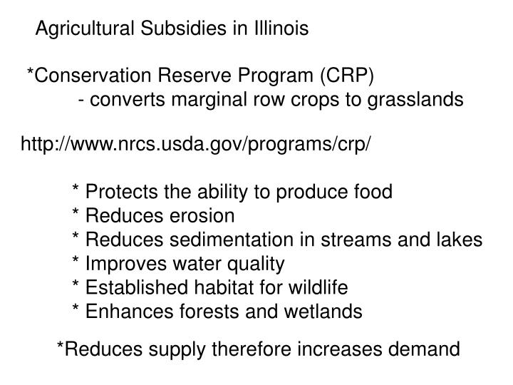 Agricultural Subsidies in Illinois
