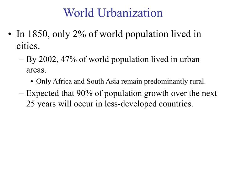 World Urbanization