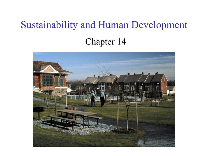 Sustainability and Human Development