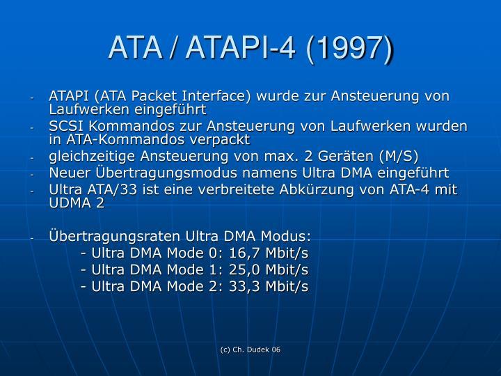 ATA / ATAPI-4 (1997)