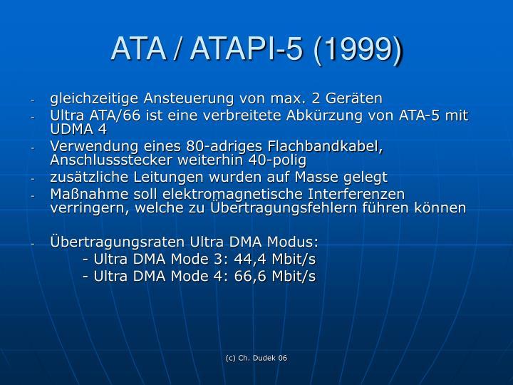ATA / ATAPI-5 (1999)