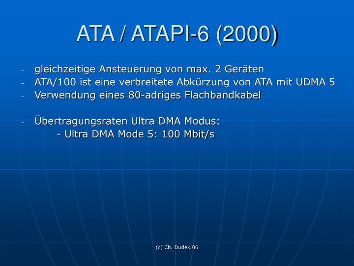 ATA / ATAPI-6 (2000)