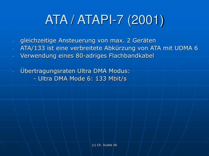 ATA / ATAPI-7 (2001)