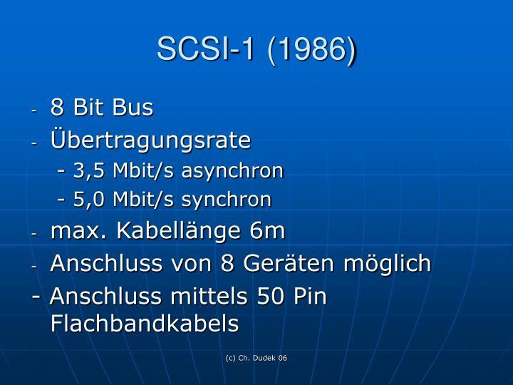 SCSI-1 (1986)