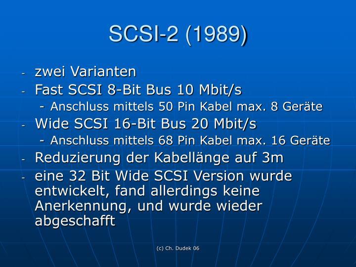 SCSI-2 (1989)