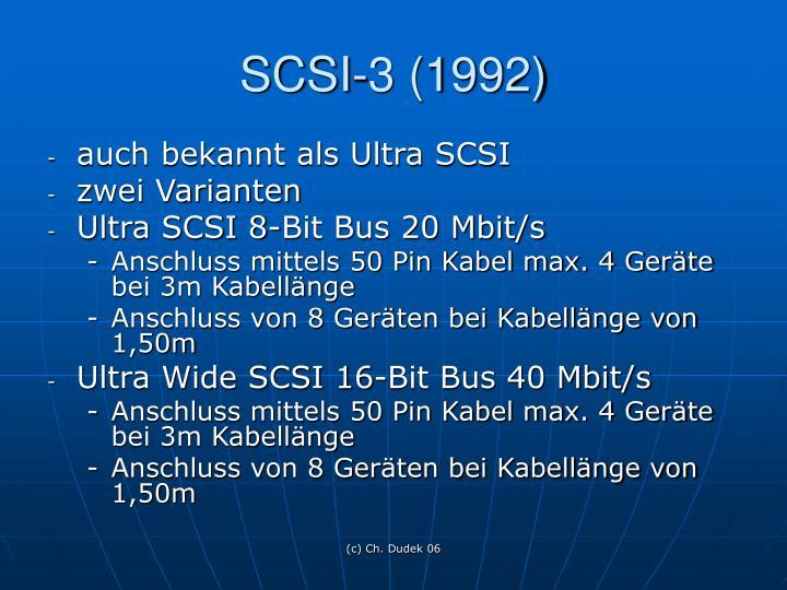 SCSI-3 (1992)