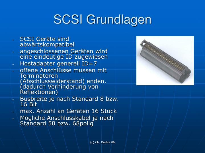 SCSI Grundlagen