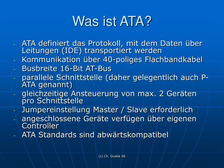 Was ist ATA?