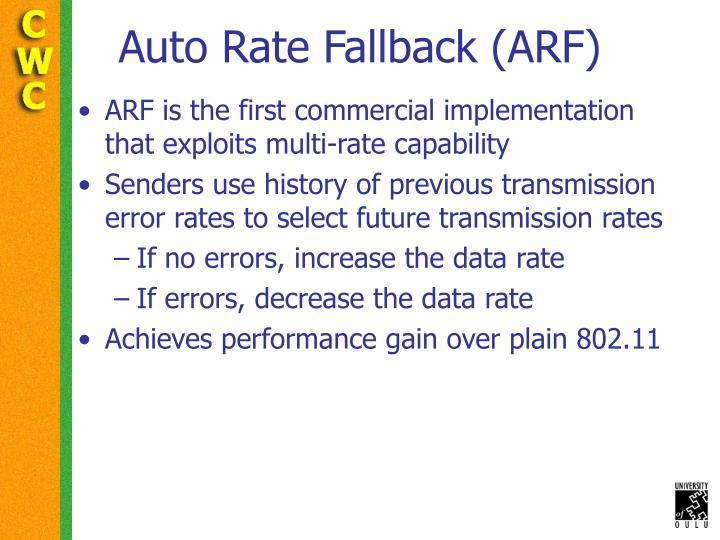 Auto Rate Fallback (ARF)