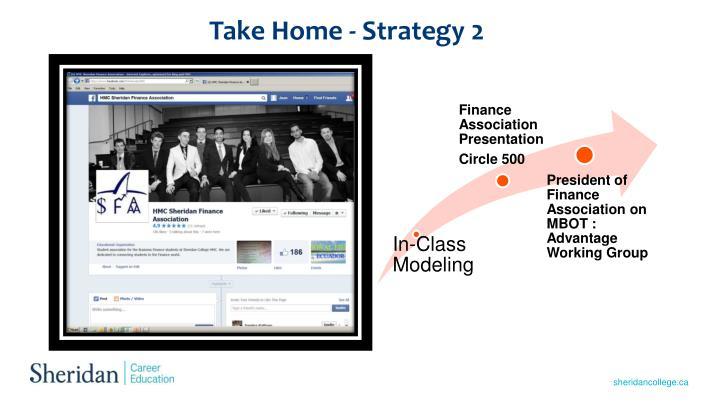 Take Home - Strategy 2