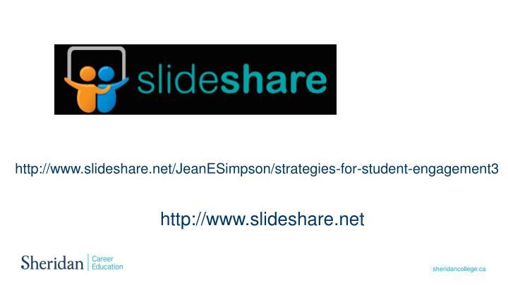 http://www.slideshare.net/JeanESimpson/strategies-for-student-engagement3