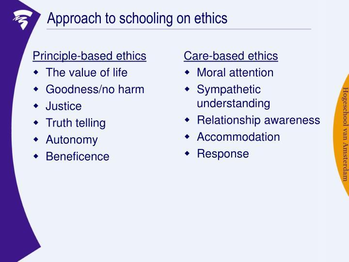 Principle-based ethics