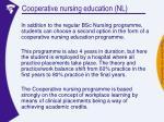 cooperative nursing education nl