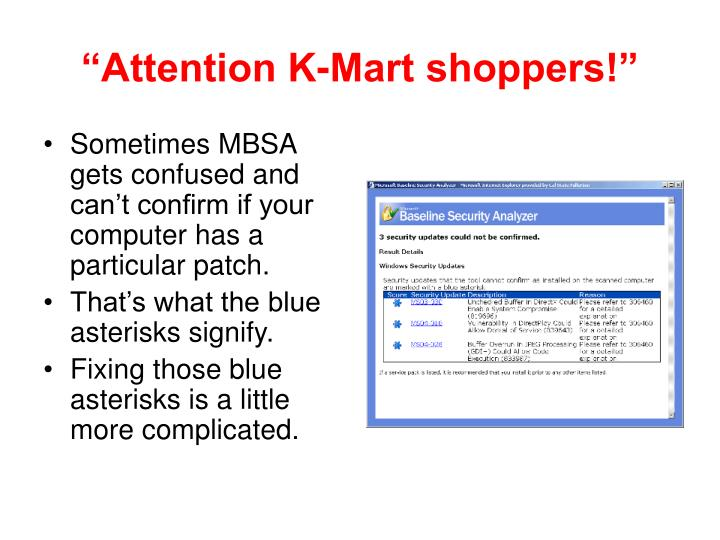 """Attention K-Mart shoppers!"""