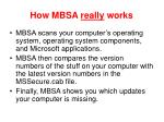 how mbsa really works